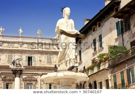 Fountain of Our Lady Verona in Piazza delle Erbe at Verona, Ital Stock photo © boggy