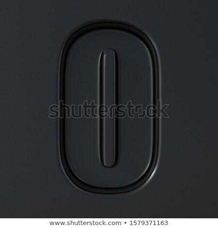 Negro grabado fuente número cero 3D Foto stock © djmilic