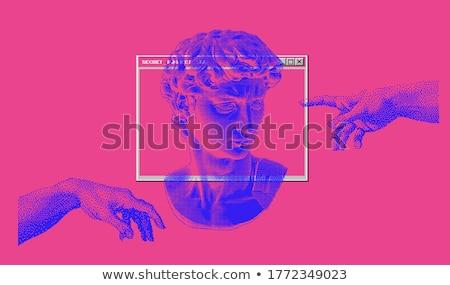 The Creation of Adam, vector hands Stock photo © beaubelle