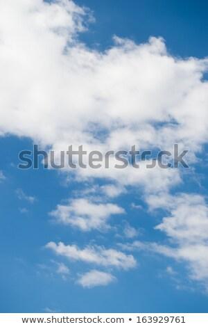 Verticaal groot wolken Blauw heldere hemel zonnige Stockfoto © artjazz