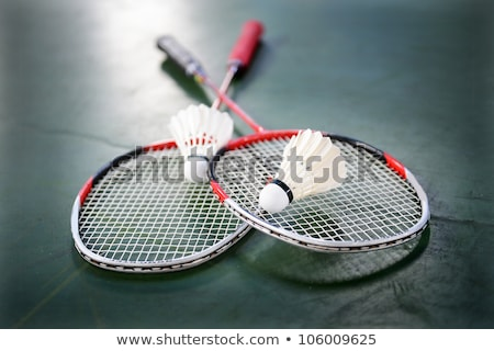 racquet and two shuttle badminton Stock photo © mayboro