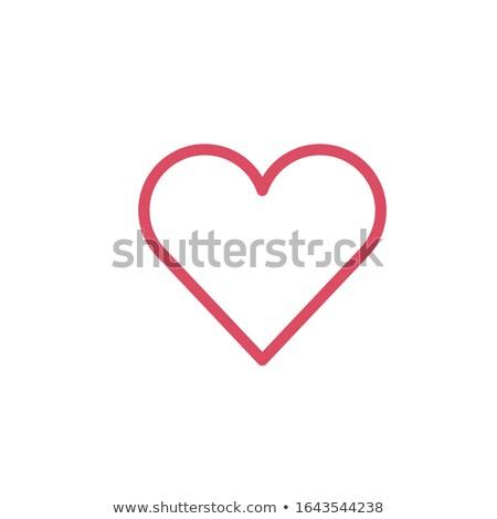 Ulubione serca ikona minimalny liniowy walentynki Zdjęcia stock © kyryloff