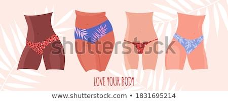 Establecer diferente mujeres ropa interior aislado blanco Foto stock © DeCe
