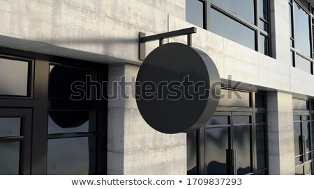 Noir signe à l'extérieur magasin façade générique Photo stock © albund