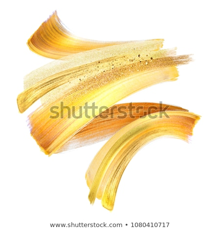 Cosmetics abstract texture background, white acrylic paint brush Stock photo © Anneleven