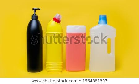 Giallo detergente bottiglia clean plastica lavanderia Foto d'archivio © Lopolo