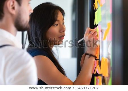 Strategii pracy zadanie spotkanie pracowników wektora Zdjęcia stock © robuart