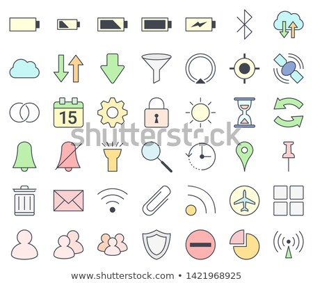 Mobile phones and smartphones interface outline icon set, filling with pastel colors - vpn, hotspot, Stock photo © ukasz_hampel