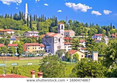 Olasz falu idilli tájkép kilátás régió Stock fotó © xbrchx