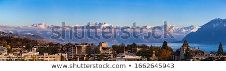 Város városkép kép belváros Svájc szürkület Stock fotó © rudi1976