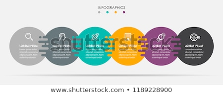 Colorful diagram, infographic template. Timeline with 6 steps. Circle workflow process for business. Stock photo © ukasz_hampel