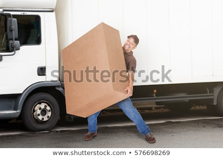 Mover Workers Delivering Heavy Box Stock photo © AndreyPopov
