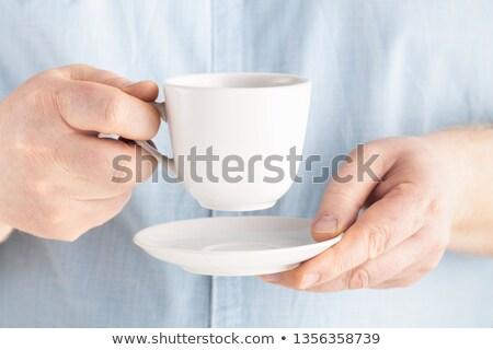 Cup caldo espresso tazza di caffè caffè chicchi di caffè Foto d'archivio © grafvision