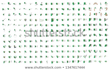 very big collection of vector flags of the Algeria Stock photo © butenkow