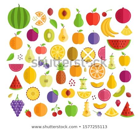 Granat owoców egzotyczny świeże owoców tropikalnych cartoon Zdjęcia stock © barsrsind