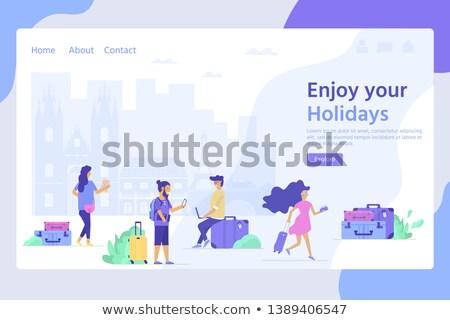 Albergue servicios aterrizaje página barato posada Foto stock © RAStudio
