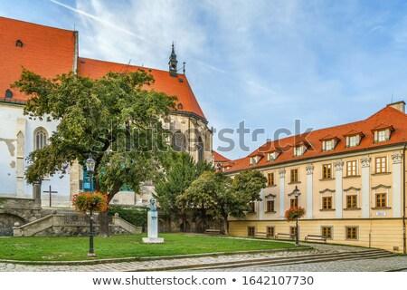 Vierkante Bratislava Slowakije kathedraal Europa geschiedenis Stockfoto © borisb17