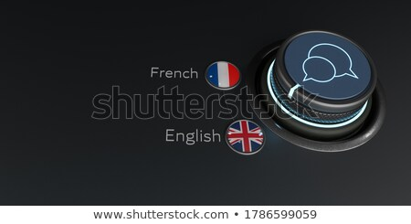 Translator Rotary Knob English French Stock photo © limbi007