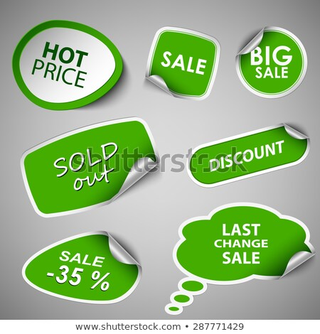 set of green discount elements stock photo © orson