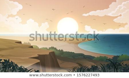Zand gras wind schaduwen patroon strand Stockfoto © ribeiroantonio