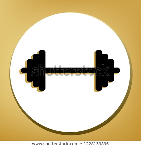 brown silhouette of a weight lifter  Stock photo © mayboro