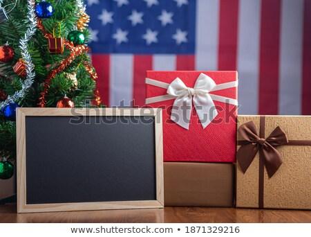 Blanco cuadro bandera de Estados Unidos primer plano espacio de la copia estrellas Foto stock © dehooks
