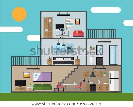 Interieur kamer hout muur home kunst Stockfoto © FransysMaslo