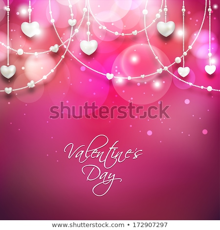 contour hearts hanging on pink background stock photo © nurrka