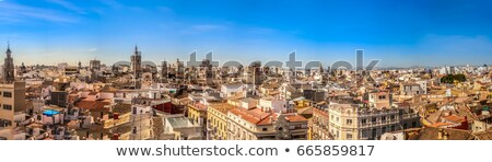 Valencia Cathedral aerial view Stock photo © aladin66