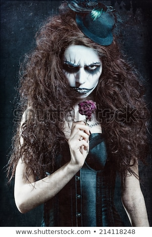 Halloween girl with scary mouth  Stock photo © Elisanth