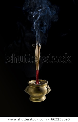 Kom wierook brandend rook zwarte zand Stockfoto © ShawnHempel