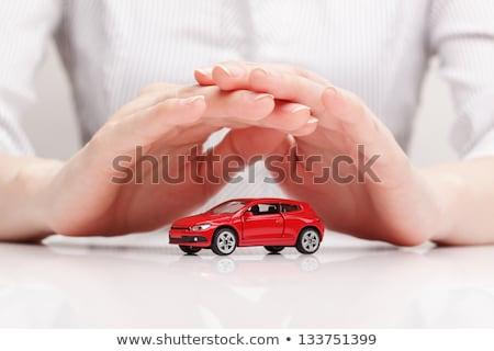 красный автомобилей рук белый фон транспорт Сток-фото © alexandre17
