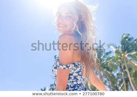 Happy summer woman stock photo © Maridav