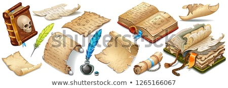 Stockfoto: Books Papyrus Feather