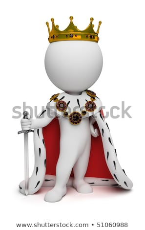 3d small people - king stock photo © AnatolyM
