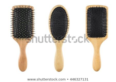 щетка · для · волос · изолированный · долго · коричневый · женщины - Сток-фото © zakaz