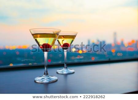 Dois fruto cocktails óculos tabela Foto stock © Pixelchaos