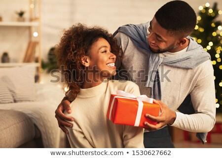 Two couples celebrating Christmas Stock photo © photography33