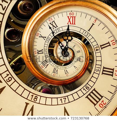Starych zegar plakat papieru podpisania oglądać Zdjęcia stock © Archipoch