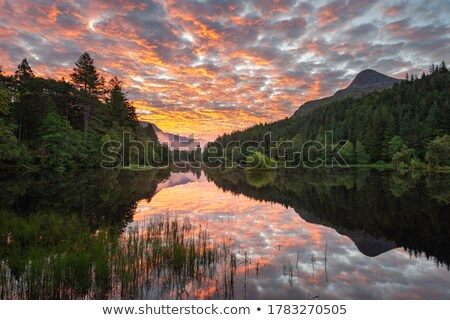 cloudy sky over scottish mountains Stock photo © gewoldi