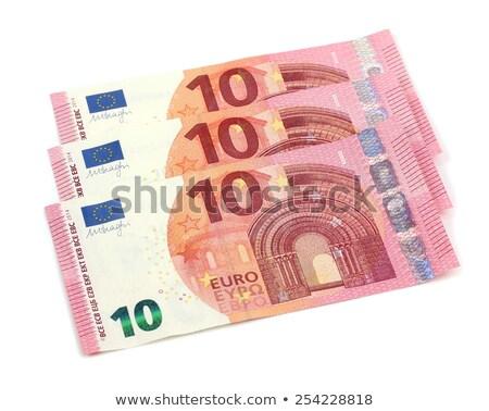 10 eurók jegyzetek ki fehér pénz Stock fotó © latent