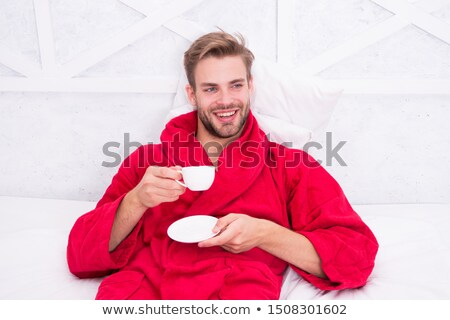 man enjoying cup of coffee stock photo © photography33