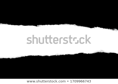 Paper sheet with black ragged crack Stock photo © boroda