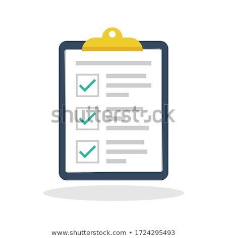checklist on a clipboard stock photo © oblachko