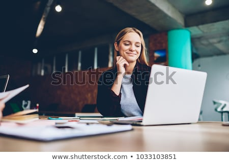 laptop woman happy stock photo © ariwasabi
