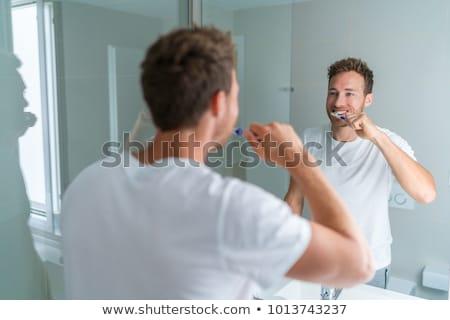 friss · fogkefe · közelkép · fej · fehér · fogkrém - stock fotó © photography33