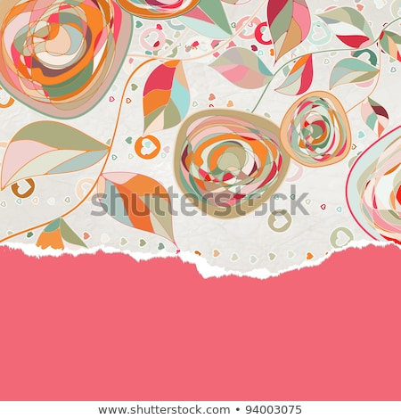 valentines card with copy space eps 8 stock photo © beholdereye
