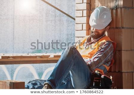 Builder sleeping Stock photo © photography33