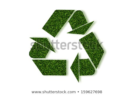 recycle symbol from natural texture in conceptual clean environm stock photo © happydancing