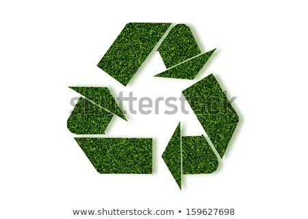 újrahasznosít · szimbólum · természetes · textúra · tiszta · környezet - stock fotó © happydancing